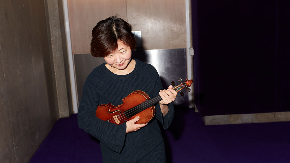 Photo of ACO violinist Aiko Goto