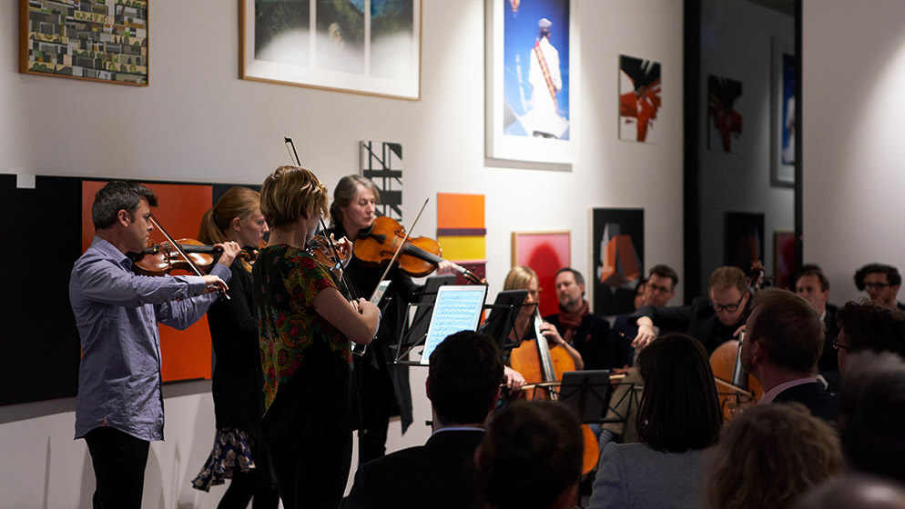 A quintet of ACO Musicians performing at an ACO Next event