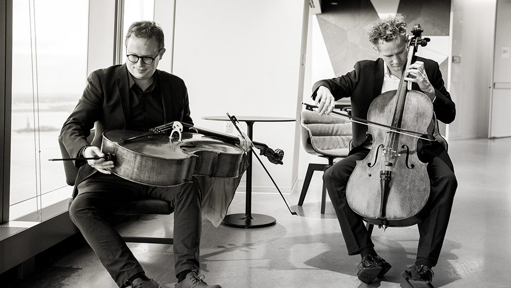 ACO Cellists Julian Thompson and Timo-Veikko 'Tipi' Valve