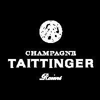 The logo of Champagne Taittinger